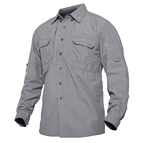 N\P Camisa de manga larga casual de verano para hombre