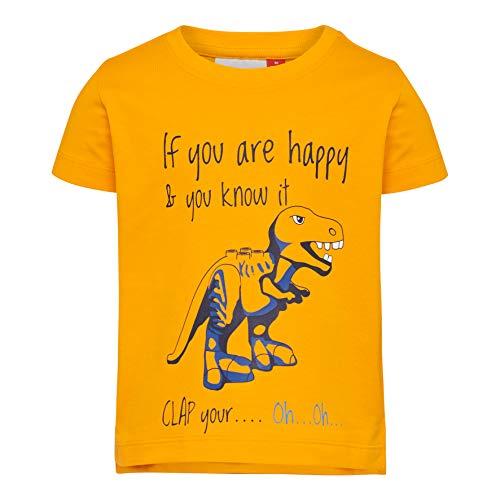 Lego Wear Duplo Boy Lwterrence 652-T-shirt T-Shirt, Giallo (Light Orange 275), 4 (Taglia Produttore: 80) Bimbo