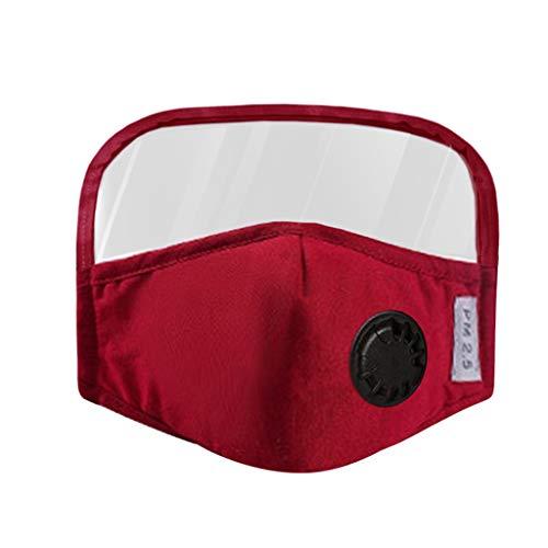 Skang Infantil Protector Facial Tela de Algodón con Válvulas de Respiración y Gafas Protectoras Reutilizables Protección Respiratoria para Niña Niño