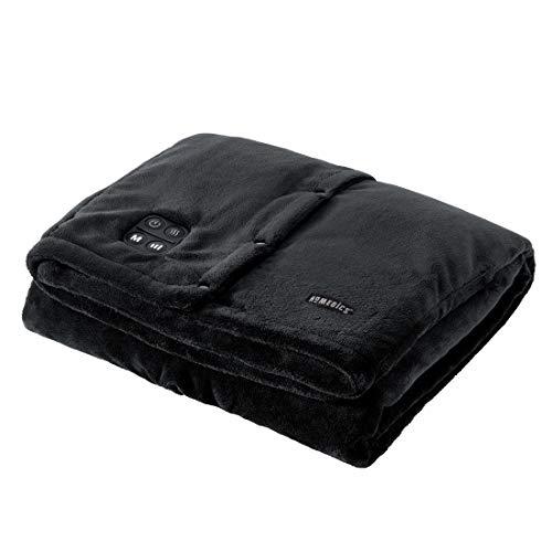 HoMedics Comfort Grote verwarmingsdeken, draadloze verwarmingsdeken met vibratiemassage