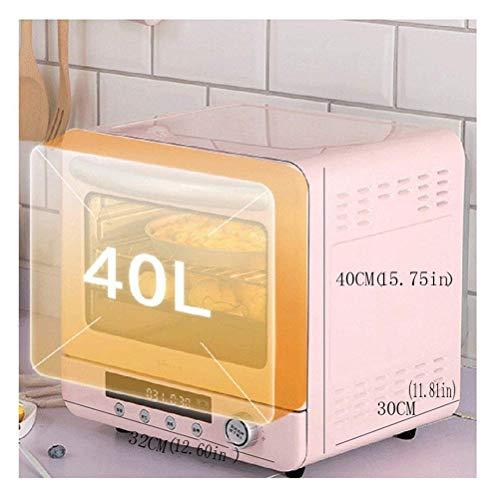 Mini Electric Oven broodrooster, compacte Smart Oven Convection, broodrooster, keukenoven, instelbare temperatuurregeling, gemakkelijk te reinigen