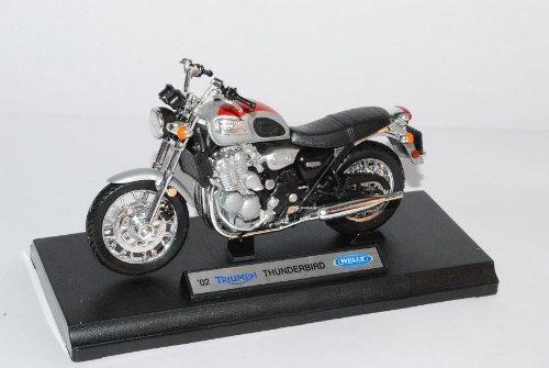 test Welly Triumph Thunderbird Rot Silber 2002 Motorrad, Modell 1/18 (mit individuellem Nummernschild) Deutschland