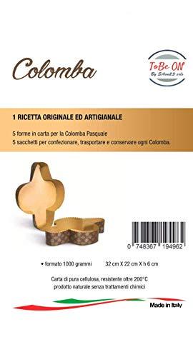 SAon23 srls 5 Stampi Colomba Pasquale 1 kg. - 5 Sacchetti per Alimenti - 1 Ricetta Originale ed Artigianale