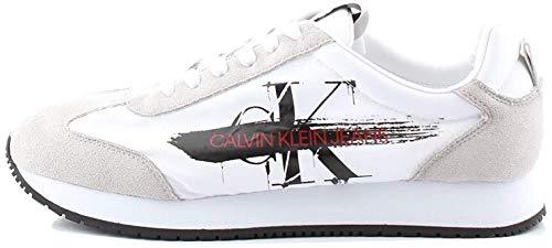 Calvin Klein Joam Low Top Uomo Formatori Moda White - 45 EU