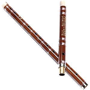 WZH Chinesisches Musikinstrument Dizi Querflöte Bambusflöte Anfänger Erwachsene Kinder Performance Flöte