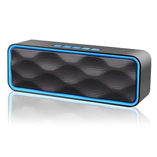 人気版 NETVIP Bluetooth5.0 スピーカーポータブル ステレオ ワイヤレススピーカー デュアルドライバー 内蔵マイクハンズフリー通話 重低音 大音量 bluetooth speaker AUXポート&TFカードスロット&FMラジオ対応 USB充電 日本語説明書付き 敬老の日 贈り物