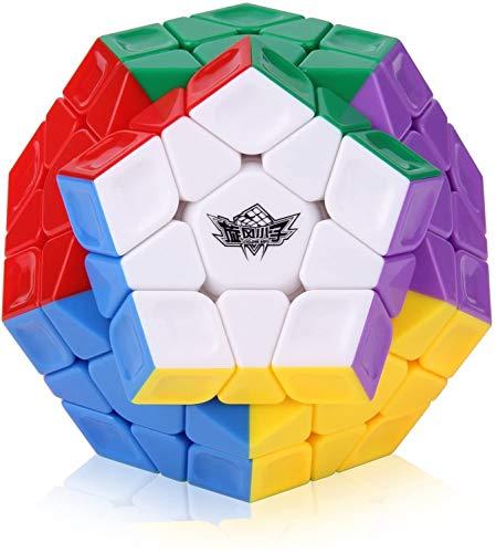 ROXENDA Cubo Mágico, Cubo de Velocidad Megaminx Stickerless Magico Speed Cube Rompecabezas, Súper Duradero Y Fácil Giro