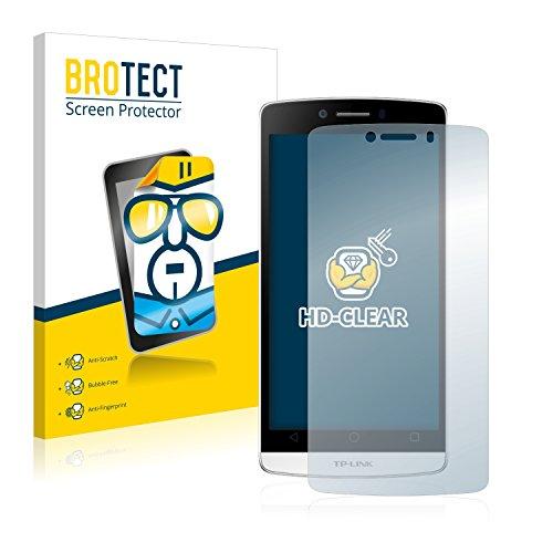 BROTECT Schutzfolie kompatibel mit TP-Link Neffos C5L (2 Stück) klare Bildschirmschutz-Folie