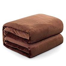 Mantas para Sofa Camello 130 × 150 cm, RATEL Mantas para Cama de Franela Reversible, Mantas Ligeras de 100% Microfibra - Fácil De Limpiar - Extra Suave Cálido