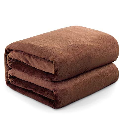 Mantas para Sofa Camello 150 × 200 cm, RATEL Mantas para Cama de Franela Reversible, Mantas Ligeras de 100% Microfibra - Fácil De Limpiar - Extra Suave Cálido