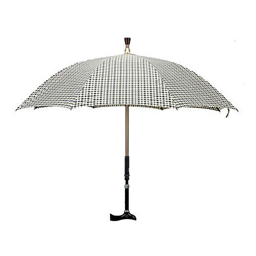 Umbrella Rutschfester Krückenschirm, Winddichter Reiseschirm, Langstieliger Kompakter Tragbarer Regenschirm, Mehrzweckschirm/Rohrstock.