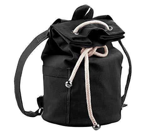 Drawstring Sports Bag Backpack Yoga backpack Shoulder Rucksack,Workout Bag Lightweight Beach Bag Gymsack String Bag for Men and Women Soccer Basketball (BlackB