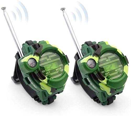 WOCY Walkie Talkies Watch for Kids, Long Range Walky-Talky Toy Watches Outdoor for Children, Boy and Girls Gift 2-Pack