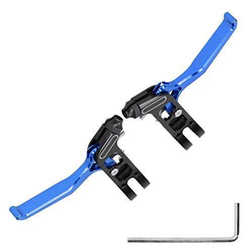 Palancas de Freno de Bicicleta, empuñadura de Palanca de Freno de aleación de Aluminio, Bicicleta de Carretera Plegable Ajustable Universal para Bicicleta de montaña para una Apertura de(Blue)