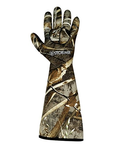 STORMR Realtree Max 5 Stealth Gauntlet Neoprene Decoy Water Proof Hunting Gloves (Realtree Max 5, Large) (Gauntlet Glove)