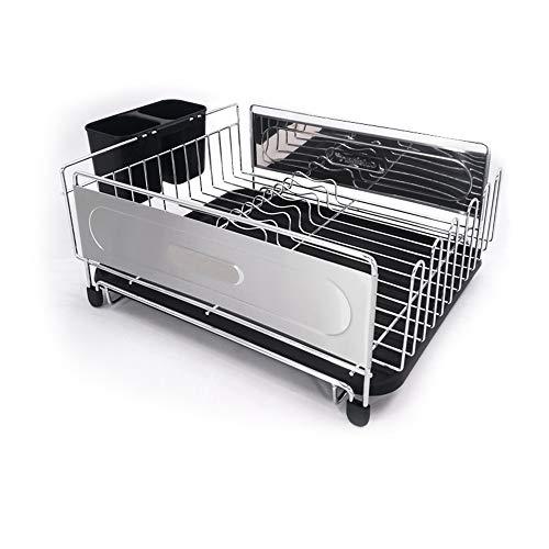 Wyaenghai afdruiprek keuken opbergrek afneembaar bestek afvoer frame roestvrij staal keuken bestek wasdroger geschikt voor gebruik in wastafel