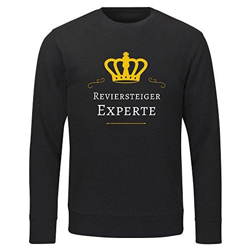 Multifanshop Herren Sweatshirt Reviersteiger Experte - schwarz - Größe S bis 2XL, Größe:XXL