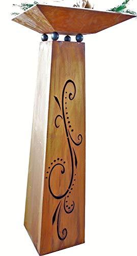 Rostikal Rouille Noble Colonne Flori Pot de Fleurs, Edelrost Fleurs Colonne Gartendenko Colonne Inox Décoration de Printemps