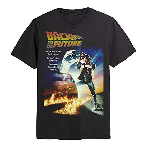 Zurück in die Zukunft - Filmplakat - Offiziell Herren T-Shirt - Schwarz, L