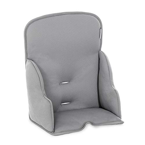Hauck Alpha Cosy Comfort Sitzverkleinerer ab 6 Monate, mit verstärkten Seitenpolster und extra hoher Rückenlehne, hochwertiger Stretch Stoff, kompatibel mit allen ALPHA+ Holzhochstühle - grau, 667866