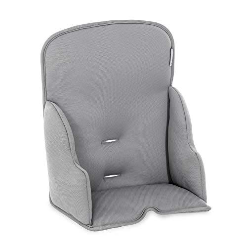 Hauck Alpha Cosy Comfort Riduttore di Seduta per Seggiolone Pappa di Legno ALPHA+, da 6 Mesi, Parti Laterali Rinforzate e Schienale Alto, Tessuto Stretch di Alta Qualità - grigio