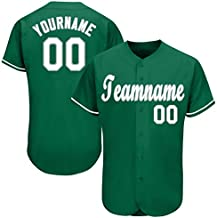 Custom Baseball Jerseys Design Your Own Personalized Jersey for Men Team Name & Number Gifts S-7XL
