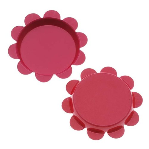 Beadaholique New Magenta Pink Flower Bottle Caps Craft Scrapbook Jewelry No Liners 25mm (24)