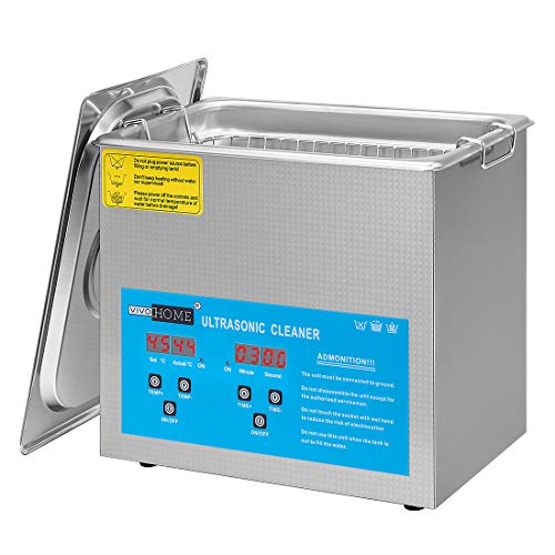 VIVOHOME Professional 3L Portable Touch Controllable Electric Ultrasonic Cleaner Machine with Digital Timer and Heater for Parts Jewelry Watch Coin Glass Circuit Board