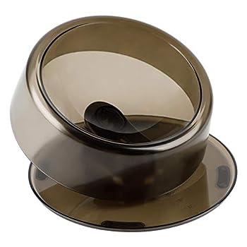 Legendog Gamelle Chat : Gamelle Chat Surélevée et Inclinée 0-22 ° Bol Chat Anti Vomissement Antidérapant 420ml   Angle Réglable   Plastique (Noir)