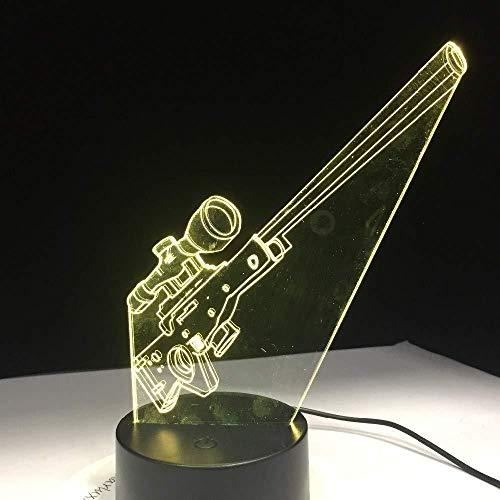 Luz de noche 3D Luz de noche Control de luz Acrílico Ilusión infantil USB 7 colores Cambio Halloween Mejor regalo Decoración de dormitorio Familia Amigos Cumpleaños Decoración táctil LED Mejor re