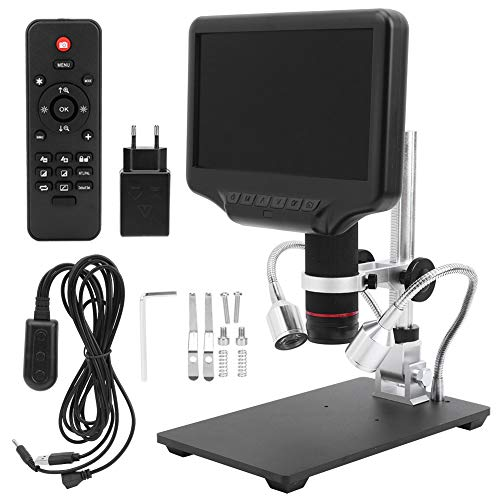Microscopio digitale 3D HDMI AD407, con schermo da 7 pollici, supporto regolabile, 110‑240 V (spina UE)