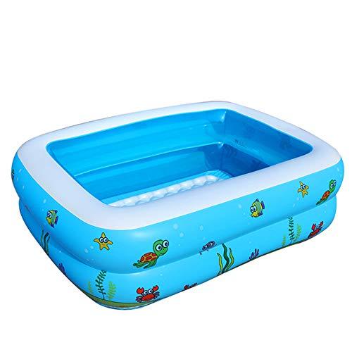 YANXS Piscina Hinchable para Niños Verano Piscina Infantil Azul Impresión Rectangular Piscina para Bebés Inflable Duradero para Actividades Familiares Aire Libre Fiesta Playa Jardín,Length 110cm