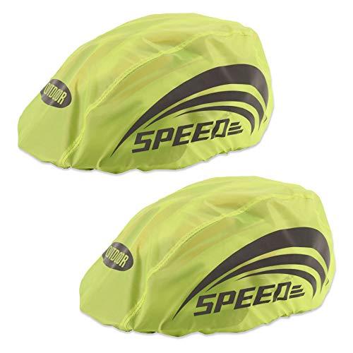 Labewin Funda impermeable para casco de bicicleta con rayas reflectantes, color verde