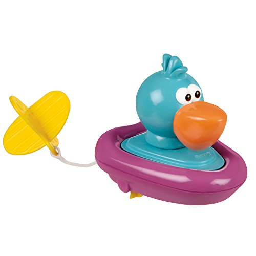 Hamacher Sassy Pull and Go Boat Bath Toy, Pelican