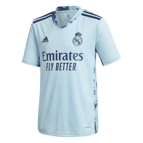 Adidas Real Madrid Temporada 2020/21 Camiseta Primera Equipación Portero Oficial, Niño, Azul,...