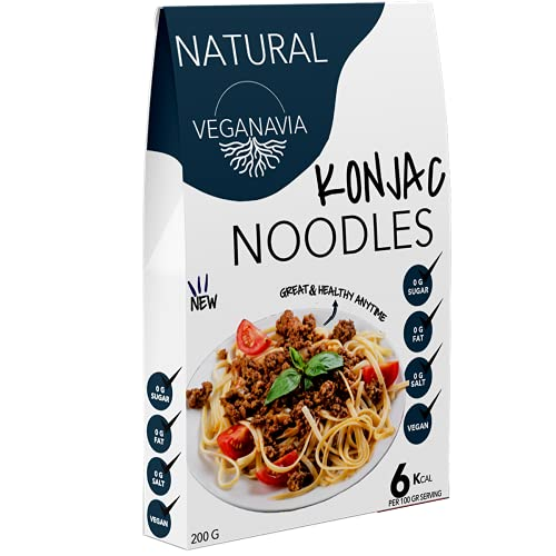 Konjac Pasta Noodles - Tallarines Sin Gluten 10 Pack 200 gramos | Vivir Sin Gluten Con Harina Sin Gluten Con La Pasta Contra Intolerancia Gluten | Bajo En Calorías (Tallarines Naturales)
