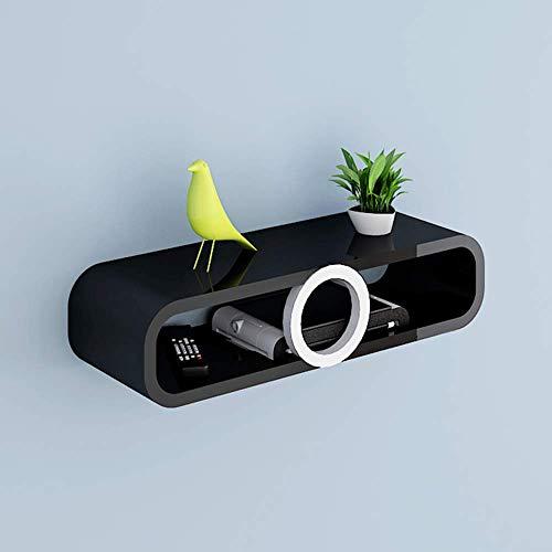 WJSW Regal Set-Top-Box Regal Wand-TV-Schrank Router Aufbewahrungsbox Kreatives Wandregal (Farbe: E)