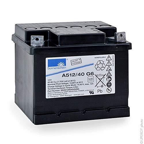 GNB Sonnenschein A500 - Batería Plomo sellada Gel A512/40 G6 12V 40Ah M6-M