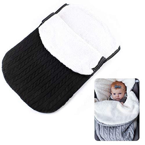 Baby Schlafsack, Infant Knit Crochet Schlafdecke Fleece Warm Einschlagdecke für Jungen Mädchen