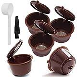 NaisiCore Filtro de café plástica cápsulas de café de Filtro Copas Recargable de Filtro para Dolce Gusto Máquinas Brown