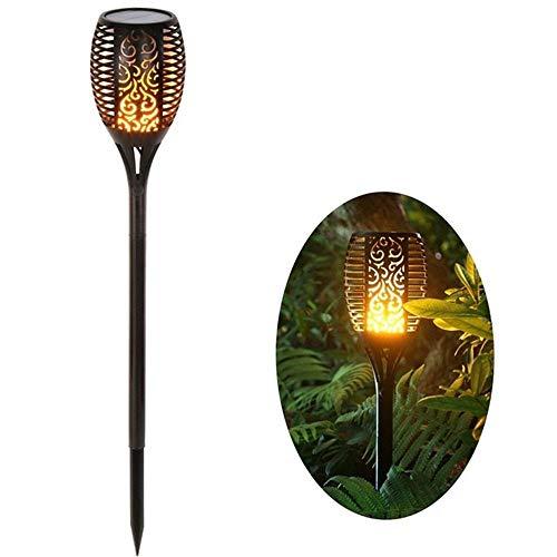 1 Uds, Lámpara de jardín parpadeante, antorcha, luz IP65, focos para exteriores, decoración de paisaje, lámpara LED para senderos de jardín