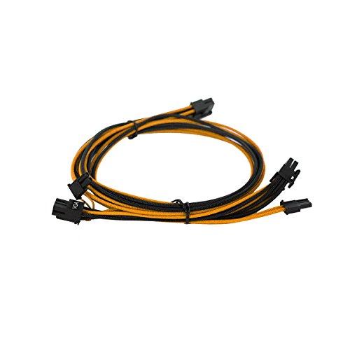 EVGA Negro y Rojo 550-650 G2/P2/T2 Juego de Cables de Fuente de alimentación, con Funda Individual (100-G2-06KR-B9) Negro/Naranja 750-850W
