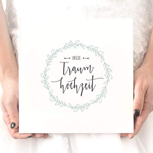 Hochzeitsalbum gestalten - Unsere Traumhochzeit, Erinnerungsalbum, Geschenk zur Hochzeit, Hochzeitsgeschenk, für das Brautpaar