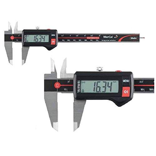 Digital Messschieber IP67 Mahr 150 mm MarCal 16 EWR 4103300 mit rundem Tiefenmaß Datenausgang: nein