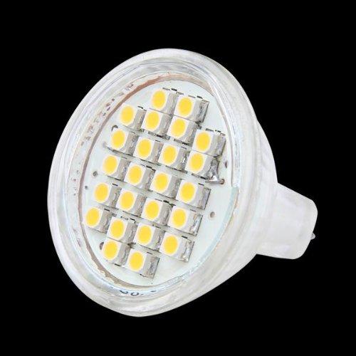 CroLED MR11 GU4 Lampada Lampadina 24 LED 3528SMD Bianco Caldo AC/DC 12V