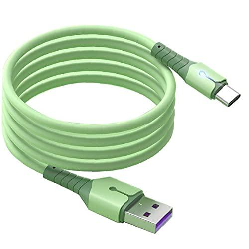 ODOUKEY Tipo C Cable de Datos de Silicona Velocidad de Cable de Datos con la luz Que Fluye