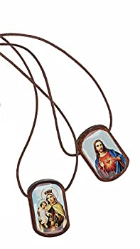 Intercession Catholic Scapular  Traditional Brown - Medium
