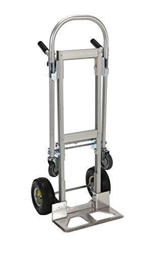 VESTIL alum-conv Convertible de aluminio carretilla de mano con doble asa, ruedas de goma, 500Lb. Capacidad de carga, altura de 52cm x 20–1/2de ancho x 18–7/8'Profundidad