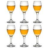 Libbey Teardrop Sherry - Bicchieri da liquore, 90 ml/9 cl, 6 pezzi, calici da vino con base, lavabili in lavastoviglie, alta qualità