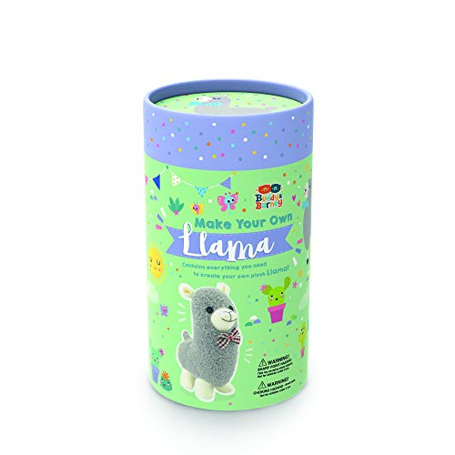 Buddy & Barney Make Your Own Sock Llama Sewing Craft Kit for Kids. Sew Your Very own Plush Toy Alpaca